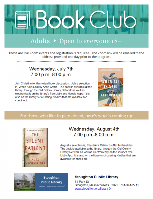 July 2021 Book Discussion
