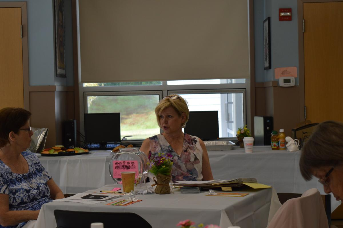 """Janiece Bruce, Administrator of Stoughton Public Health at """"Bunny's Breakfast"""" at The Senior Center"""