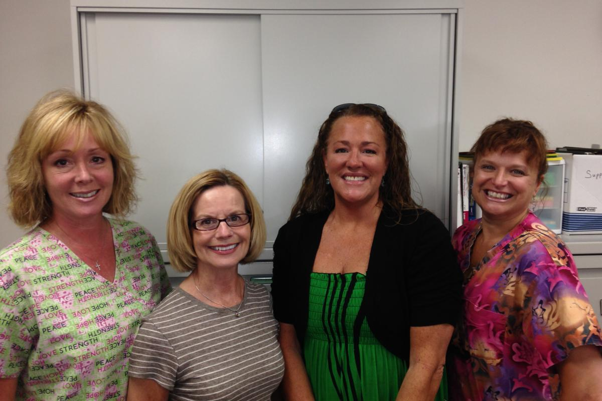 Carolyn Swart, RN, Sharon Chaisson, RN, Amy Russell, MSW and Rhonda Clermont, RN