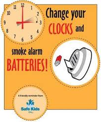 Change Your Clocks, Change Your Batteries!