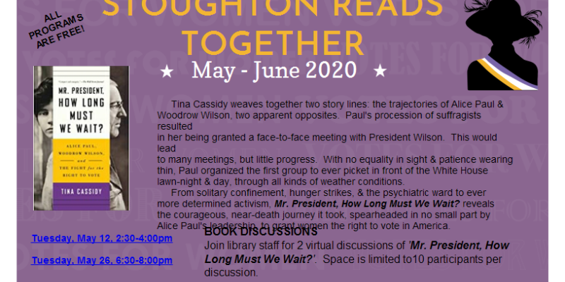 Stoughton Reads Together 2020 Schedule